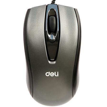 得力3716有线鼠标(黑)